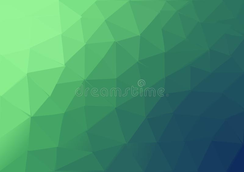 The green colored triangel backgroun pattern vector illustration