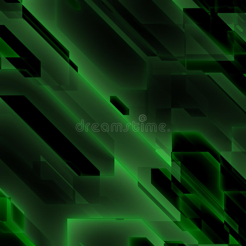 Green data flow. Binary data flow in a substance royalty free illustration