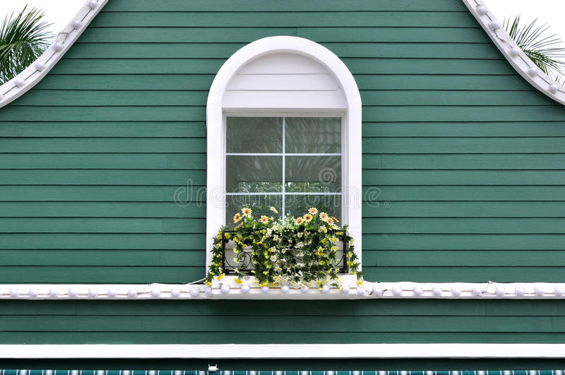 Green Decorated Architecture Royalty Free Stock Images
