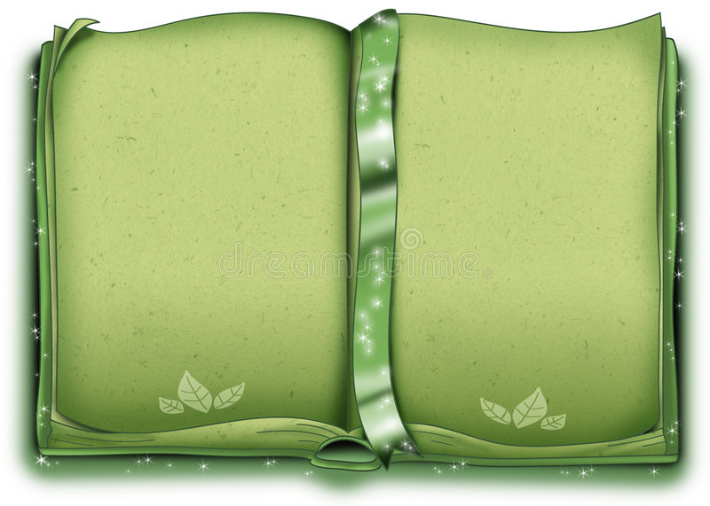 Download Green decorated book stock vector. Illustration of bookmark - 6477776