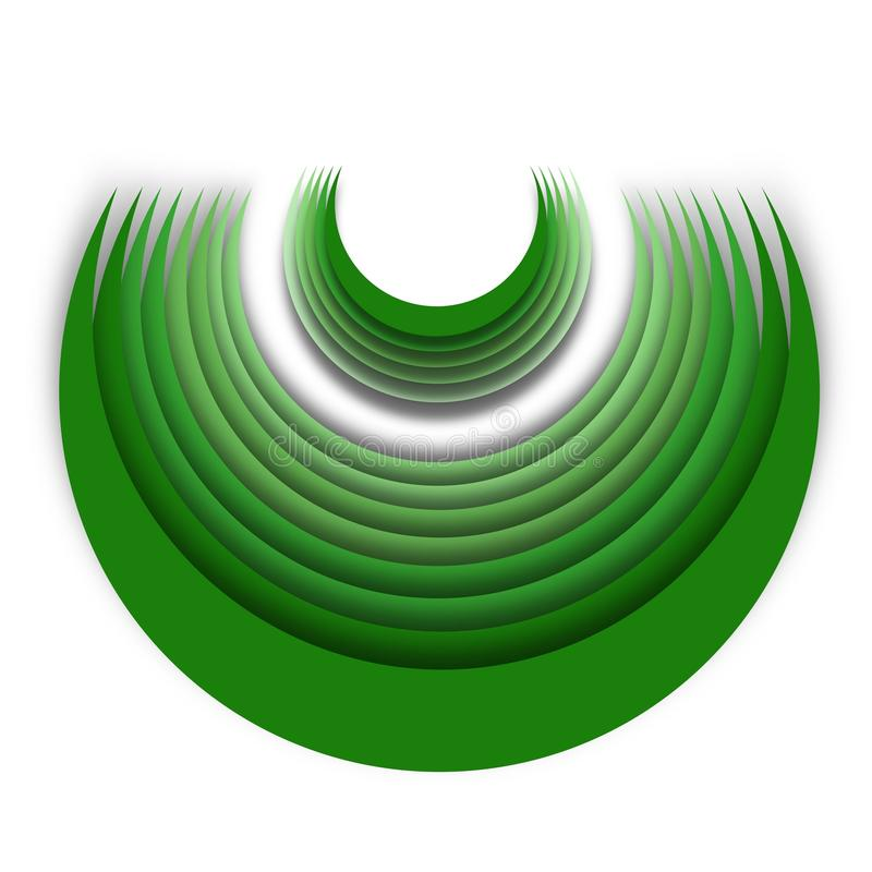 Green Deep Half Circle Concept Idea royalty free stock photography