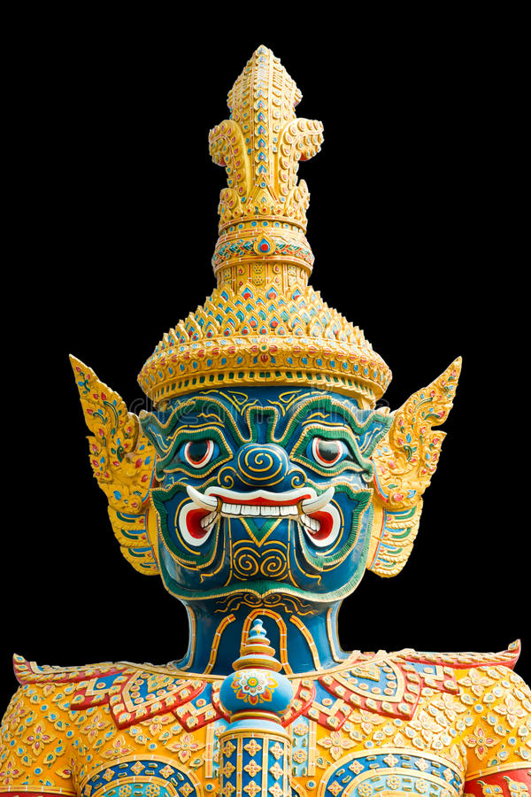 Green demon warrior in the Ramayana. In thailand stock photography