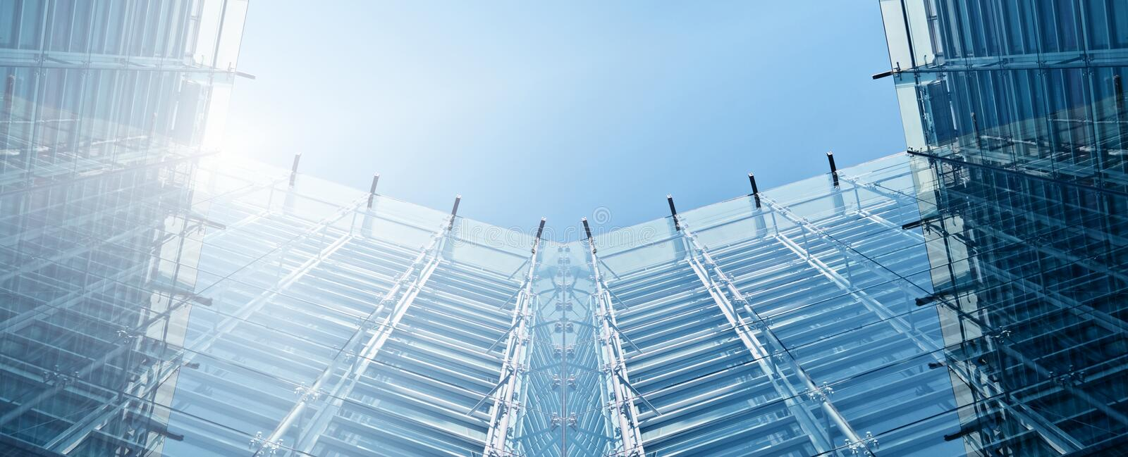 Green Design. Sustainable Design with Blue Sky royalty free stock photography