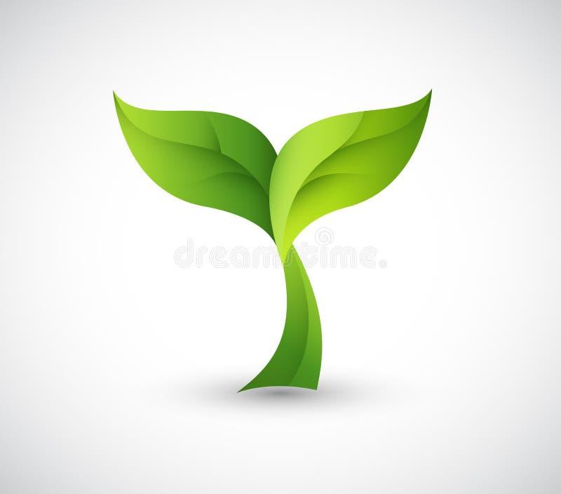 Download Green design logo stock illustration. Image of growing - 28736242