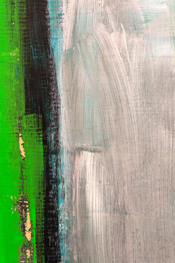 Green detail from painting. Detail from painting. Oil on canvas stock illustration
