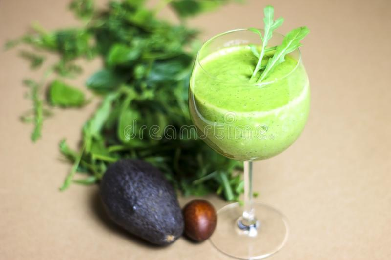 Green detox juice stock image