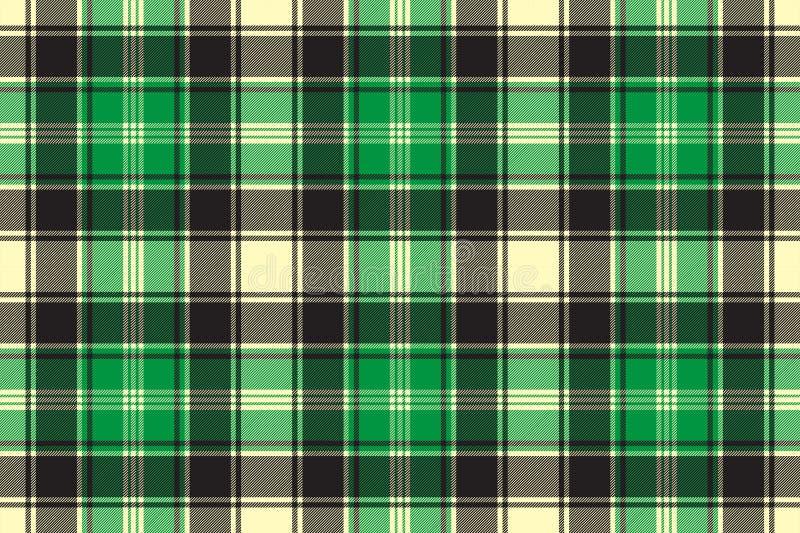 Green diagonal fabric texture tartan seamless pattern stock illustration
