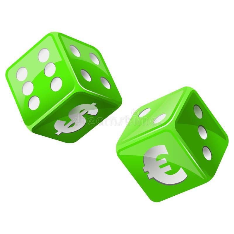 Green dice royalty free illustration