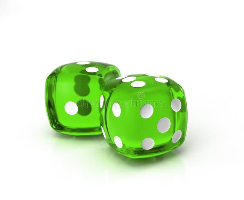 Download Green dice 2 stock illustration. Illustration of chance - 2232366