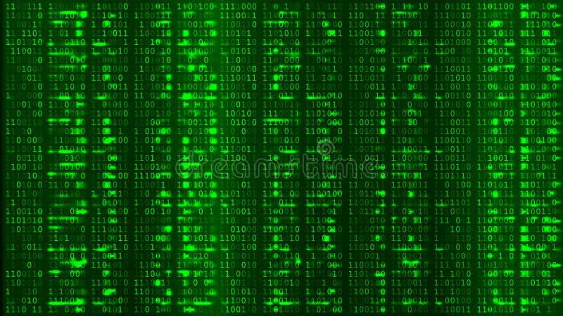 Green Digital BG. Coding or Hacking Concept. vector illustration