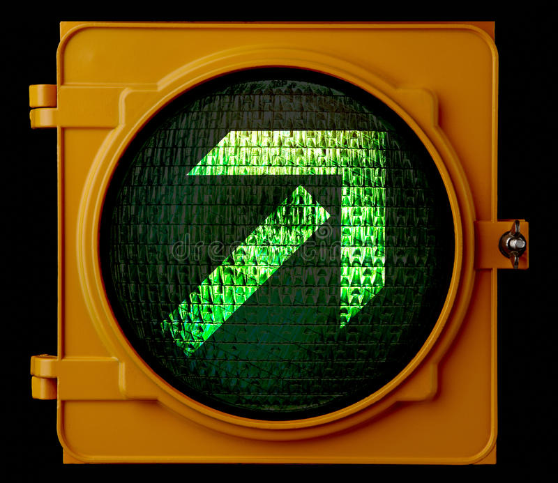 Green directional light royalty free stock images