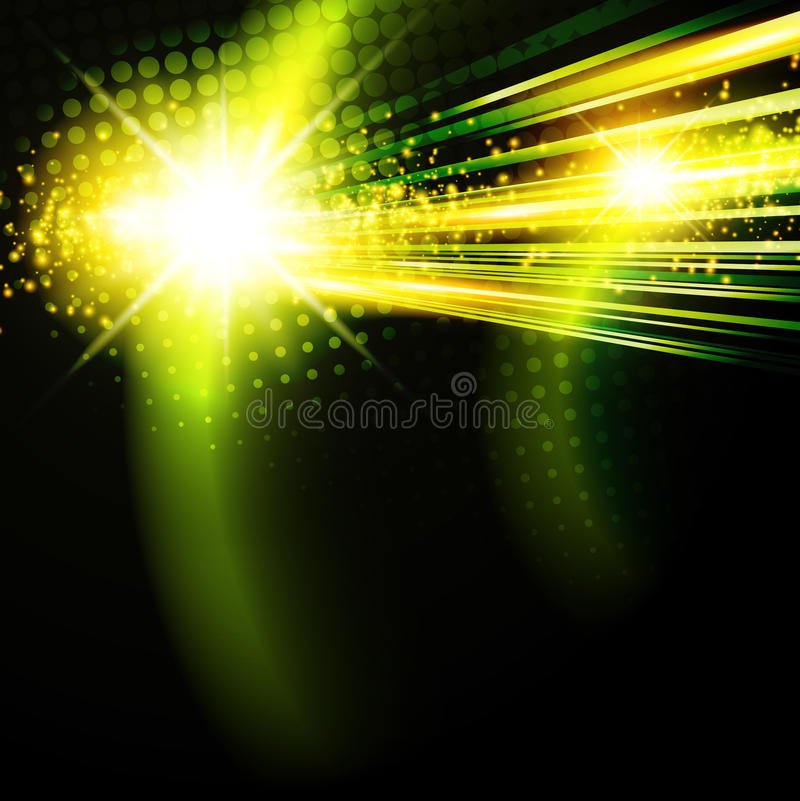 Green disco background stock illustration