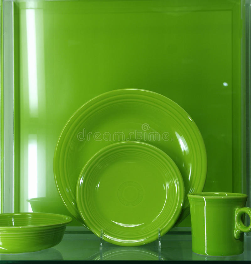 Green Dishes stock photo