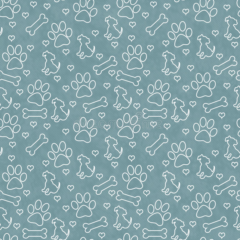 Green Doggy Tile Pattern Repeat Background stock illustration