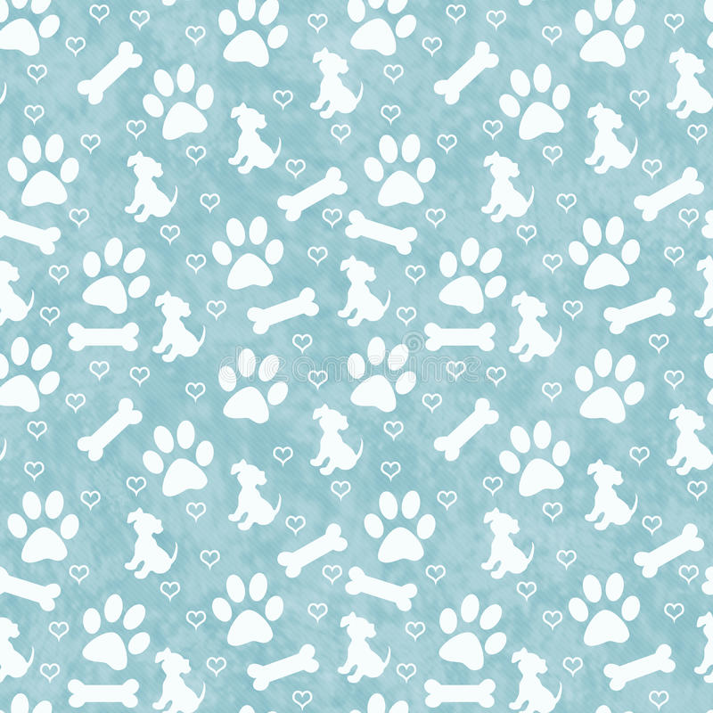 Green Doggy Tile Pattern Repeat Background Stock ...