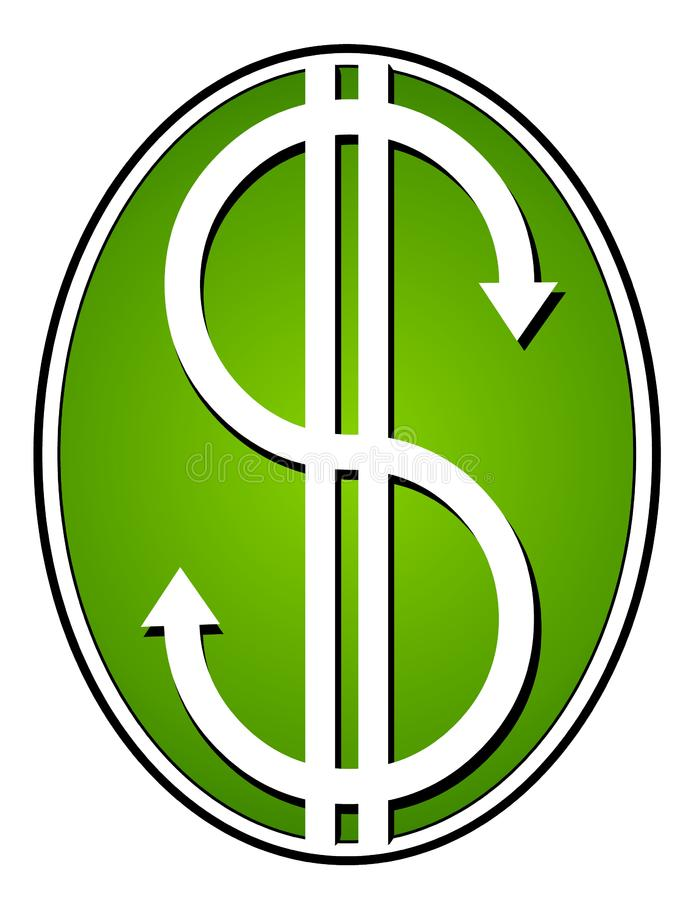 Green Dollar Signs Cash Money stock photography