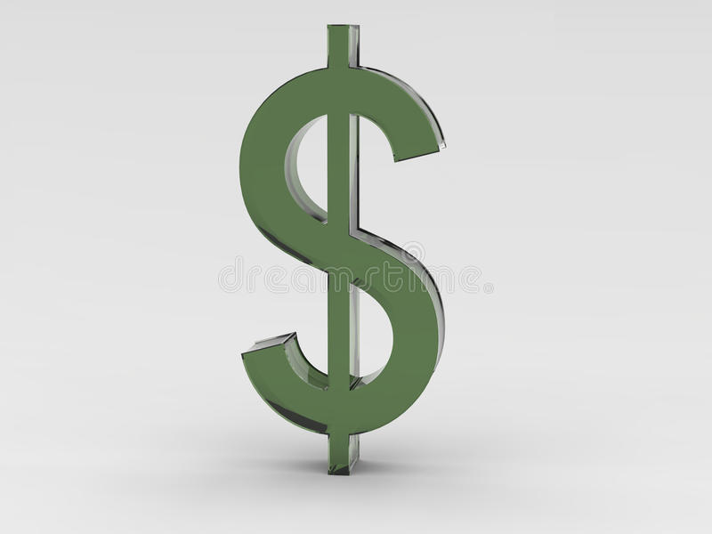 Green Dollar Symbol - Illustration stock photos