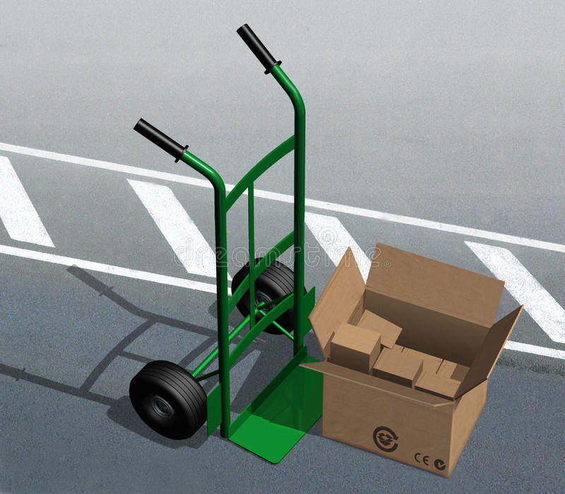 Download Green dolly stock illustration. Image of factory, shipping - 13933402