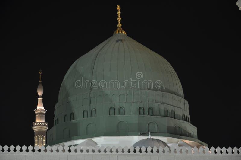 Green Dome de Nabawi Masjid fotos de stock royalty free