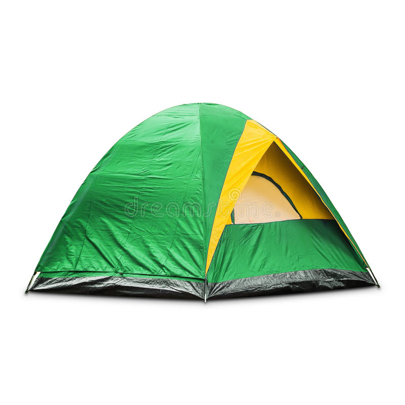 Green dome tent stock image