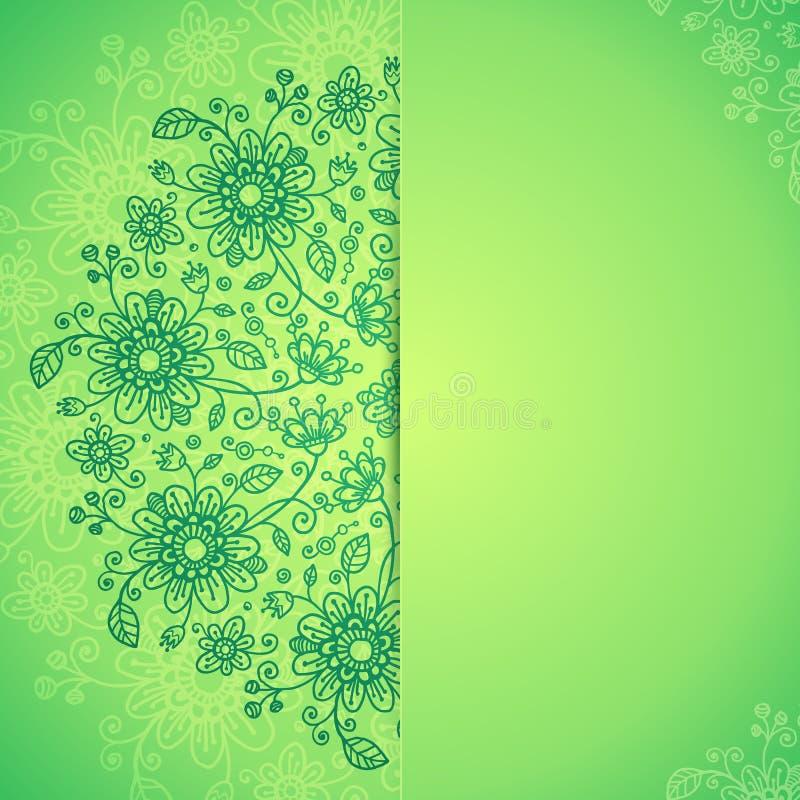 Download Green  Doodle Flowers Background Stock Illustration - Illustration: 29170383