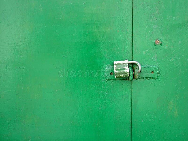 Download Green door stock image. Image of padlock, close, door, detail - 113937