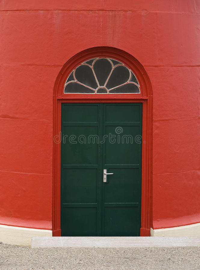 Download Green Door Of Red Lighthouse Stock Photo - Image: 11479648