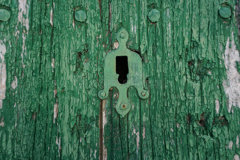 Green door royalty free stock photography