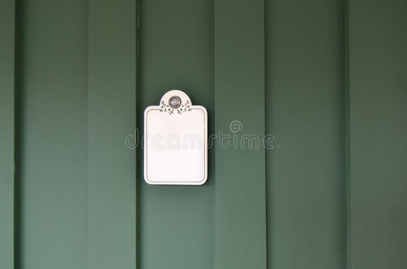 Green door royalty free stock photo