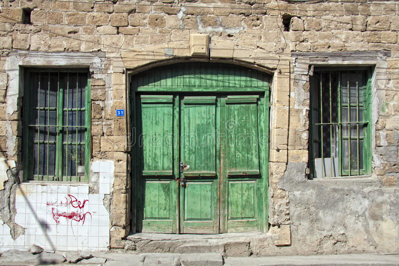 Download Green doors stock image. Image of house doors step - 31214813 & Green doors stock image. Image of house doors step - 31214813