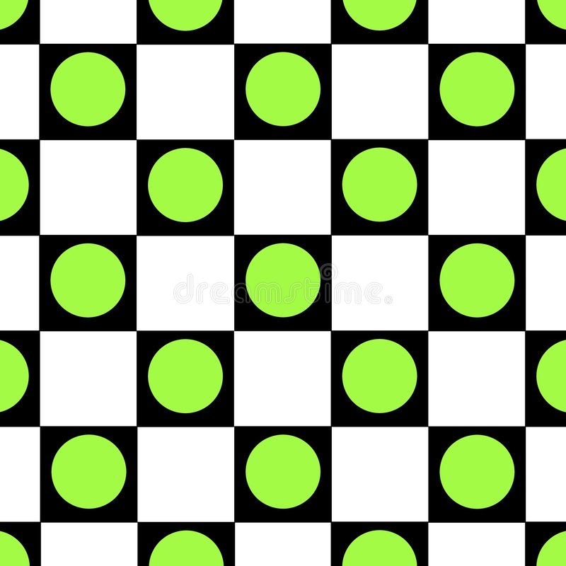 Green dot checkered background royalty free stock image