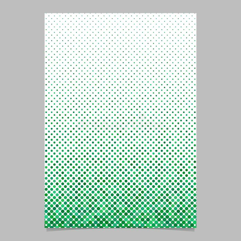 Green dot pattern brochure background - vector stationery template. Green abstract dot pattern brochure background - vector stationery template design royalty free illustration