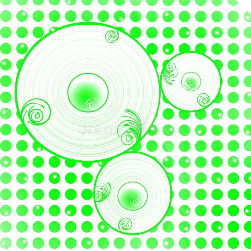 Green dots circles background