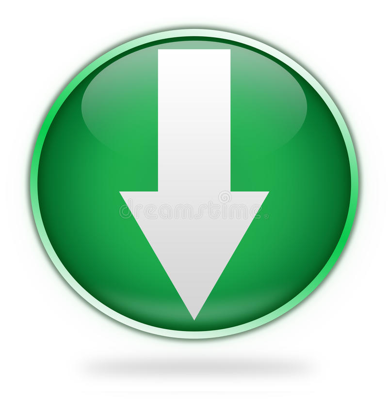 Green download button stock illustration