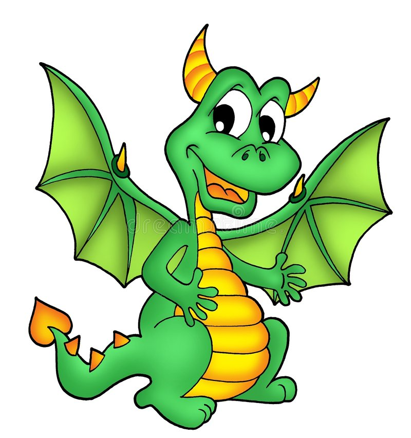 Green dragon royalty free stock photography