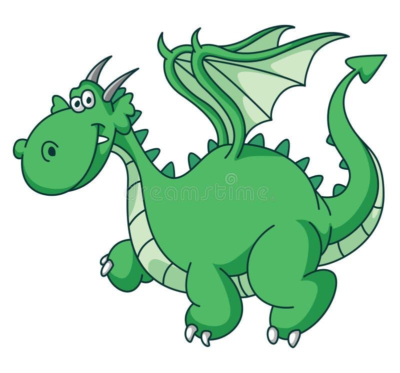 Green Dragon Funny stock illustration