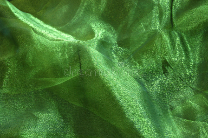 Green Drapery royalty free stock photography