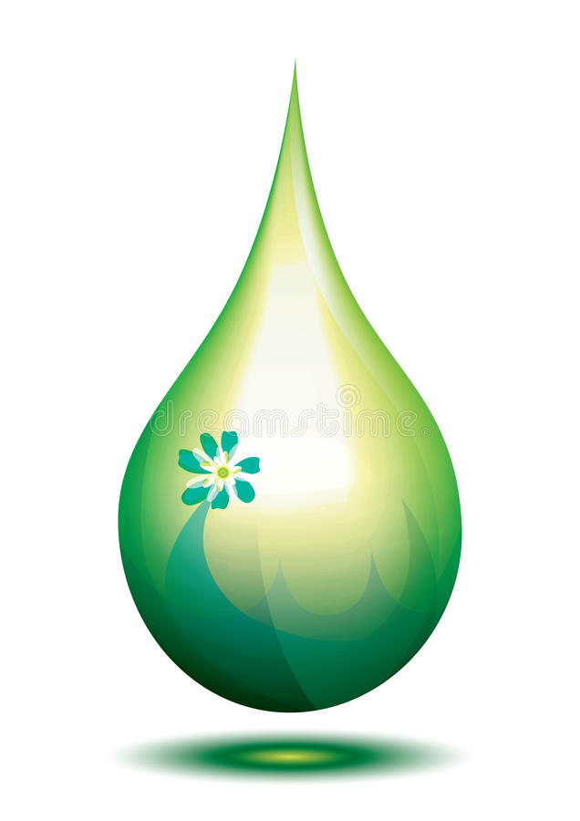 Green drop vector illustration