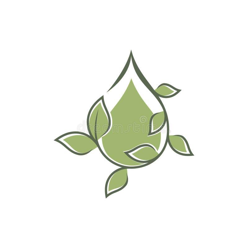 Green droplet leaf ornament vector icons symbol. Spring leaves ecology symbols. Vector illustration EPS.8 EPS.10 royalty free illustration