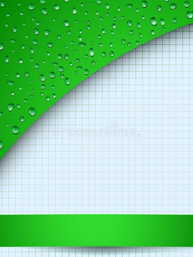 Download Green Drops And Copyspace Stock Photo - Image: 25260800