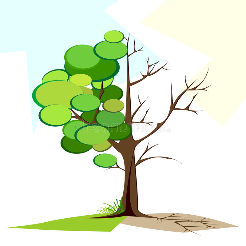 Download Green and Dry tree stock vector. Image of element, environment - 20320241