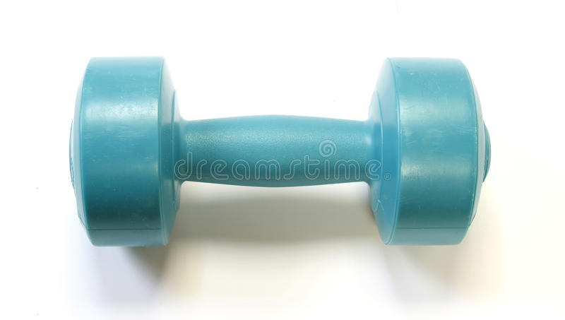Green dumbell royalty free stock image
