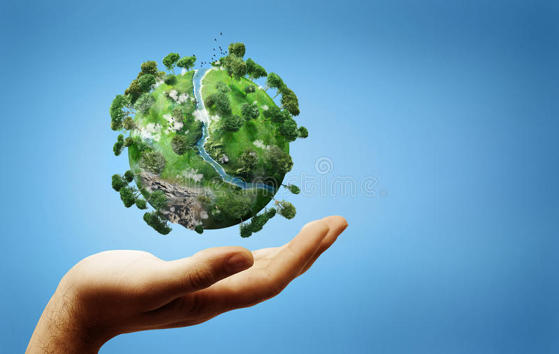 Download Green earth stock illustration. Image of save, planet - 17379469