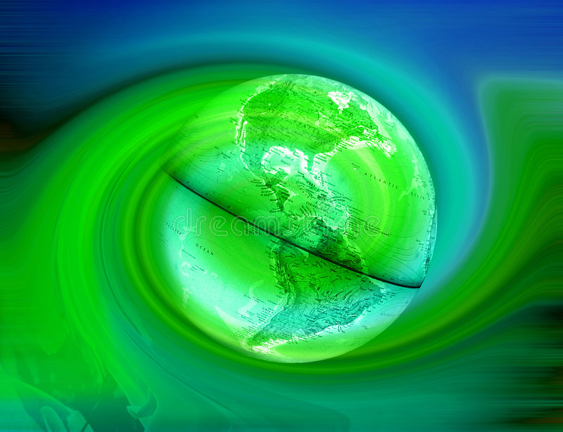 Download Green Earth - Abstract stock illustration. Image of core - 58500