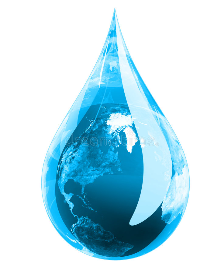 Green Earth Droplet vector illustration