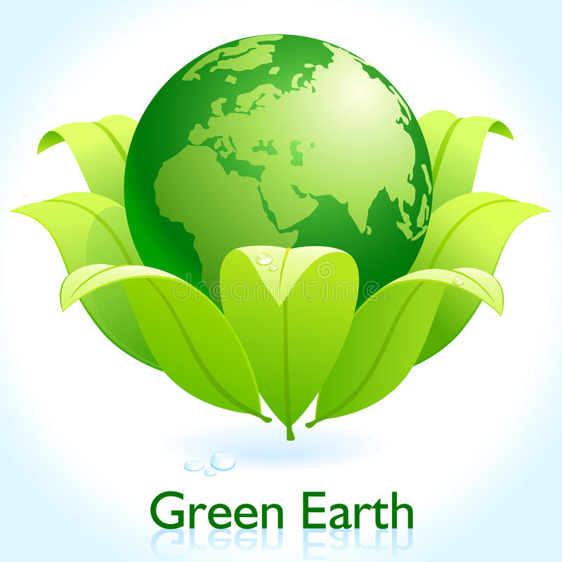 Green Earth - Protect Our Planet royalty free illustration