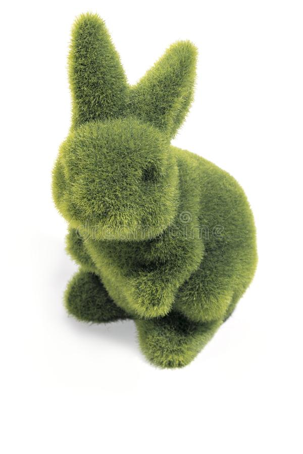 Green easter bunny stock images