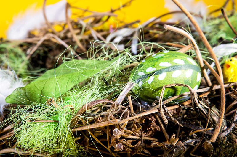 Green easter egg royalty free stock images