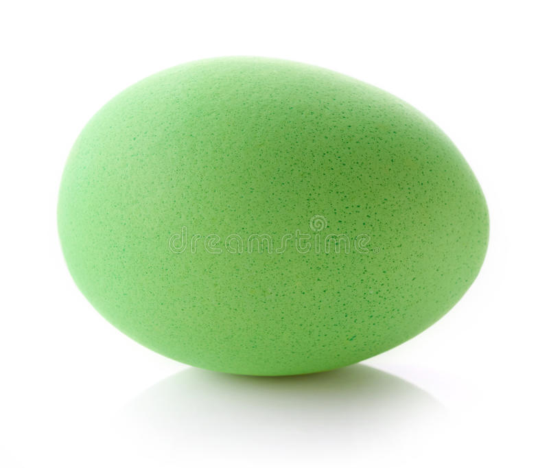 Green easter egg. Isolated on white background stock image