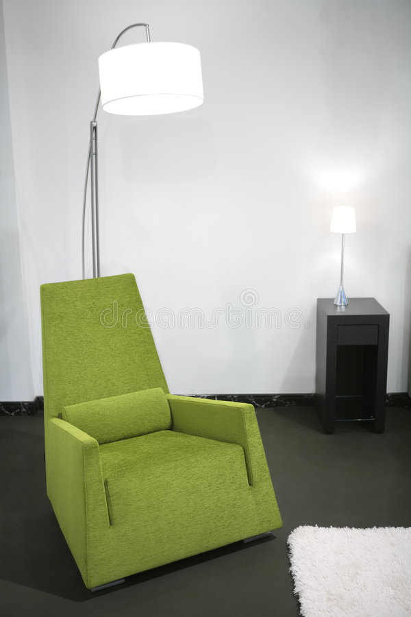 Green Easy-chair Stock Photography